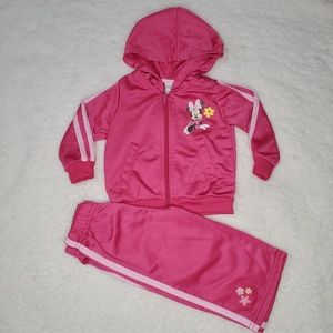 Disney Baby Girl Pink Minnie Track Suit 12mo
